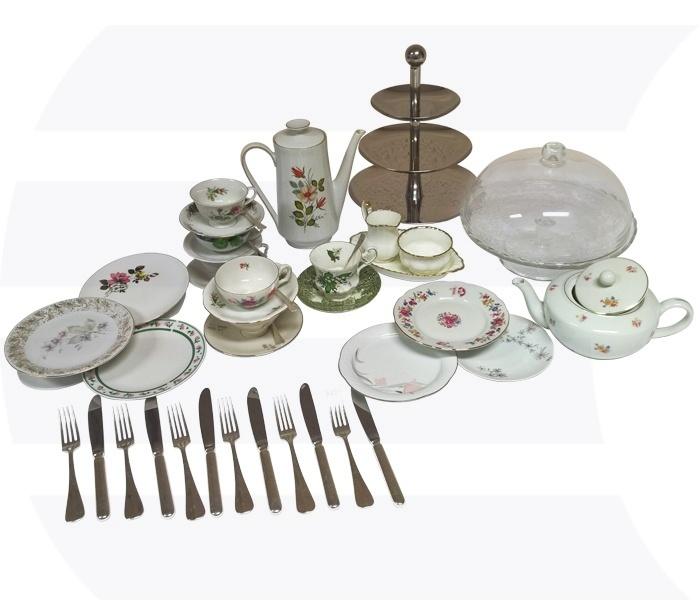 High tea set Vintage | 6-persoons huren