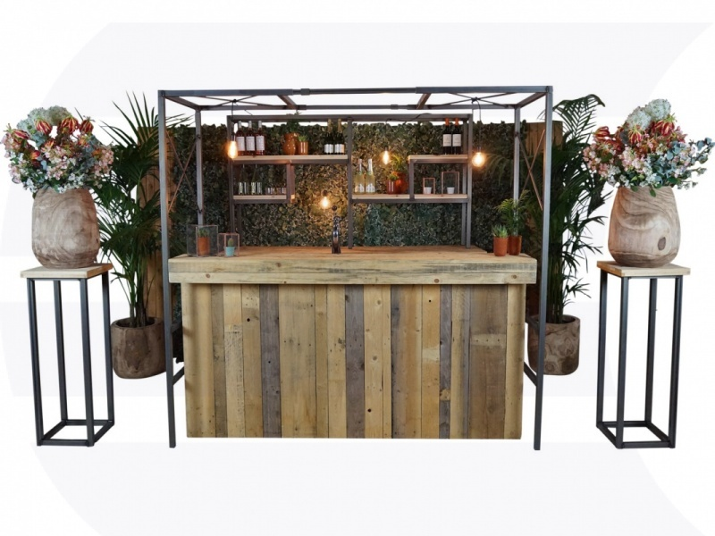 Luxe bar Industrial Green 2,2m huren