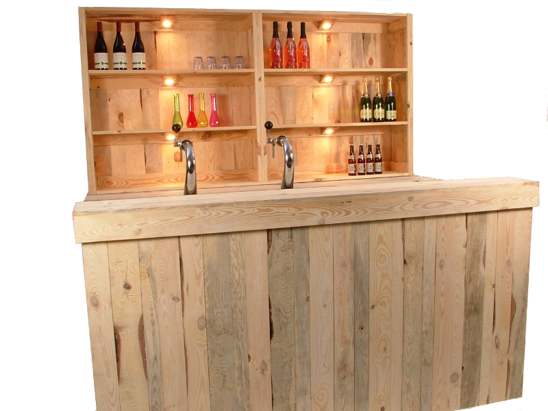 Luxe bar wood 2,2m huren