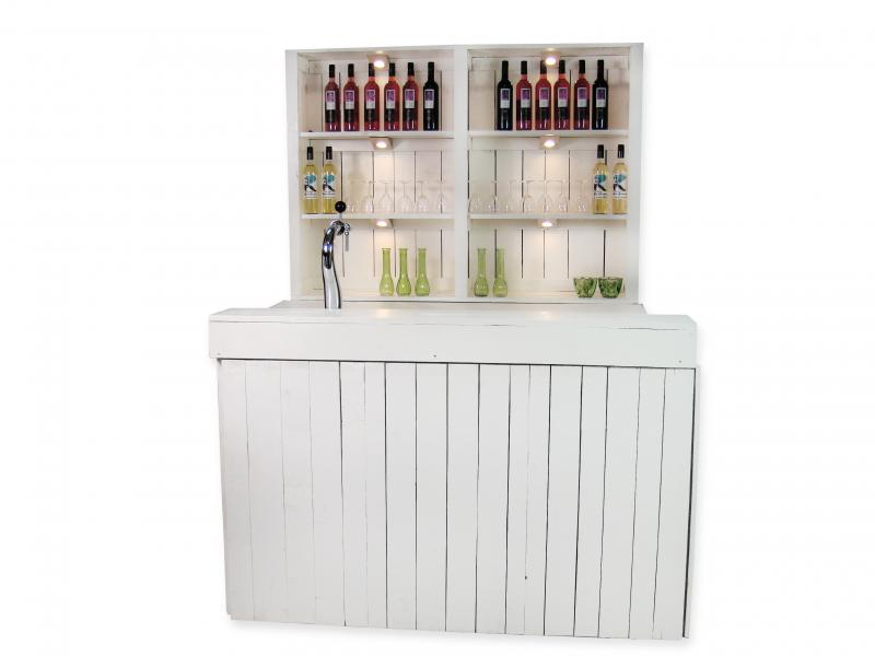 Luxe bar White Nature 1,7m huren