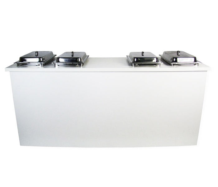 Buffet wit 220cm inclusief 4 chafing dishes huren