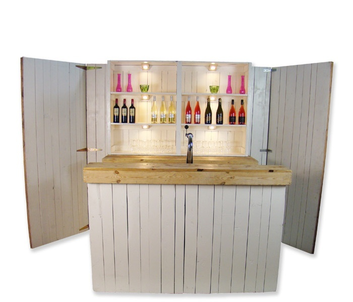 Luxe bar Mixed Wood 2,2m huren